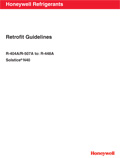R404A/R507A to R448A Retrofit Guidelines